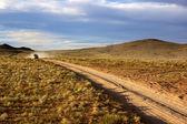 Voiture sur la route en mongolie — Photo