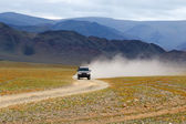 Track on road in the Mongolia — Stock Photo