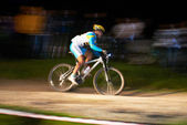 Nigth race mountain bike competition — Stockfoto