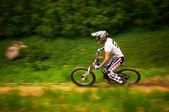 Competição de bicicleta de montanha extrema — Foto Stock