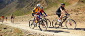 Mauntain bike adventure competition — Stock Photo