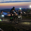 Постер, плакат: Nigth race mountain bike competition