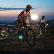 Nigth race mountain bike competition — Stock Photo