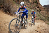 Competencia de bicicleta de montaña aventura — Foto de Stock