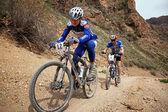 Competição de bicicleta de montanha de aventura — Foto Stock