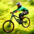 ストック写真: Extreme mountain bike competition