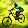 Foto de Stock  : Extreme mountain bike competition