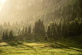 Yaz dağlarda yağmur — Stok fotoğraf