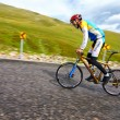 Bicycling uphill competition — Stock Photo