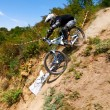 Постер, плакат: Extreme mountain bike competition