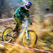 Extreme mountain buke competition — Foto Stock