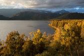 Sunset on Markakol lake, Kazakhstan — Stock Photo