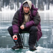 Ice fisherman — Stock Photo #35330561