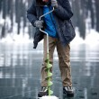 Ice fisherman — Stockfoto