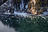 Frozen mountain lake — Stock Photo