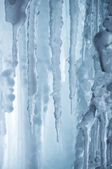 Winter icefall background — Stock Photo