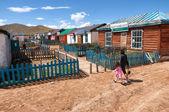 Aldea telmen en el norte de mongolia — Foto de Stock