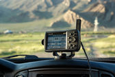 GPS navigator in car — Stock Photo