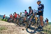 Mountain bike adventure competition — Stok fotoğraf