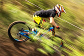 Extreme mountain bike competition — ストック写真