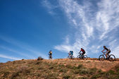 Adventure mountain bike cross-country marathon — Stock Photo