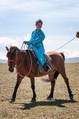 Caravana de camelos na Mongólia — Fotografia Stock