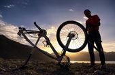 äventyr mountain bike konkurrens — Stockfoto
