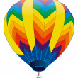 Colored hot air balloon — Stock Photo