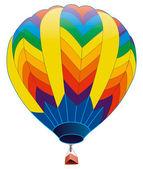 Colored hot air balloon — Stock Photo