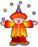 Clown Juggler — Stock Photo