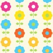 Spring flower seamless pattern vector design — Stock Vector