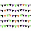 Halloween flags or bunting isolated on white — Image vectorielle