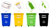 Separate Garbage collection isolated on white — Stock Vector