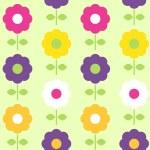 Spring flower seamless pattern vector design — Stock Vector #24695267