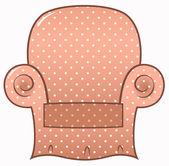 Vintage brun prickig stol isolerad på vit — Stockvektor