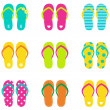 Royalty-Free Stock Vector Image: Summer flip flops set isolated on white