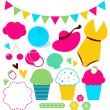 Royalty-Free Stock Vector Image: Cute summer elements set isolated on white