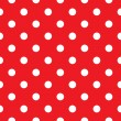 Red polka dot seamless pattern design — Stock Vector