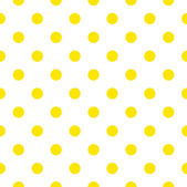 Seamless pattern or background with yellow sunny polka dots — Stock Vector