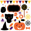 Halloween party set isolated on white — Stock Vector #30574037