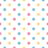 Colorful polka dot pattern in pastel colors — Stock Vector