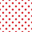 Red polka dot seamless pattern design — Grafika wektorowa