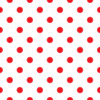 Red polka dot seamless pattern design — Imagen vectorial