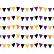 Halloween colorful Bunting or Flags isolated on white — Stock Vector #33579967