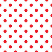 Red polka dot seamless pattern design — Vetorial Stock