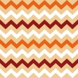 Thanksgiving Orange, White and Brown seamless Chevron pattern — Stock Vector