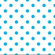 Blue polka dot seamless pattern design — Stock Vector #33924507
