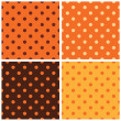 Thanksgiving dotted retro pattern collection — Stock Vector #35040427