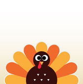 Thanksgiving colorful Turkey greeting with copyspace — Stock Vector