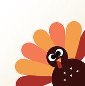 Beautiful cartoon Turkey Bird for Thanksgiving day — Stock Vector